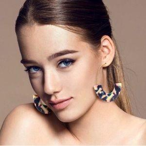 2/$35🖤 ANTHRO Resin Drop Multicolor Hoop Earrings